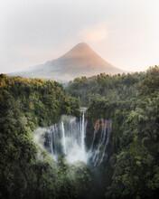 Beautiful Tumpak Sewu Waterfalls, Indonesia