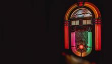 Retro Jukebox On Black Background