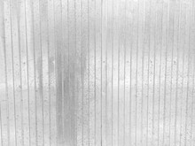 Profiled Metal Fence Made Of Galvanized Steel With Traces Of Corrosion