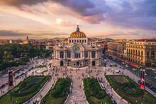Palacio De Bellas Artes, Palace Of Fine Arts, Mexico City