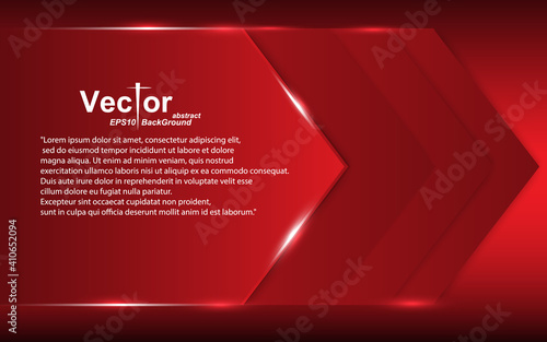 Red arrow Frame banner abstract overlap deep dimension concept layout design sty Fototapeta