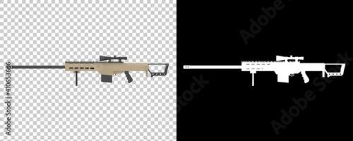 Slika na platnu Firearm isolated on background with mask