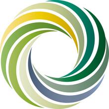 Logo - Farbkreis Aus Natürlichen Pastellfarben, Farben Aus Der Natur, Natürliche Erscheinung, Nachhaltige Und ökologische Mode, Faire Fashion, Vektor, Isoliert