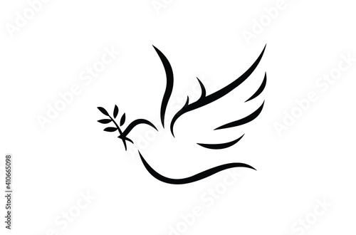 Billede på lærred dove of peace symbol. vector illustration EPS 10