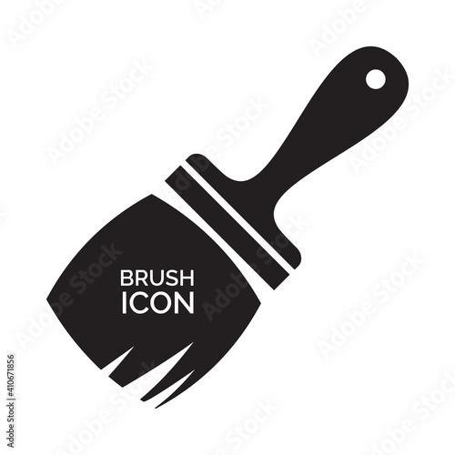 Obraz na plátně Paint Brush Icon, Paintbrush Symbol, Brush Sign, Painter Tool