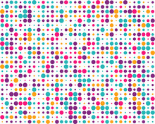 SVG Pattern With Random Colorful Dots, Seamless Background