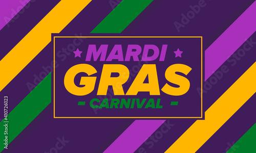 Slika na platnu Mardi Gras Carnival in New Orleans