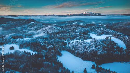 winter landscape with snow © Daniel Vincek