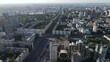 Kyiv cityscape Ukraine. Aerial view Kiev. Slow motion