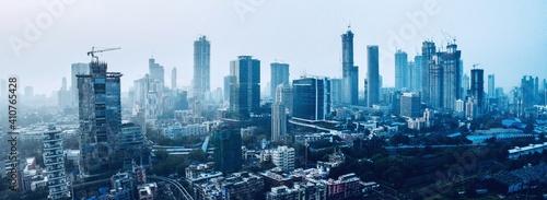 Fototapeta premium Aerial View Of Cityscape