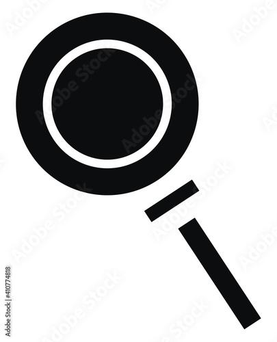 Fotografija Black magnifier, illustration, vector on white background.