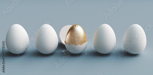 Fototapeta Close-up Of Easter Eggs Against White Background obraz
