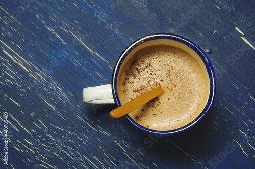 Fototapeta Directly Above Shot Of Coffee On Table obraz