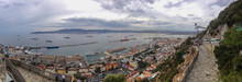 High Angle View Of Gibraltar Townscape By Road Against Sky