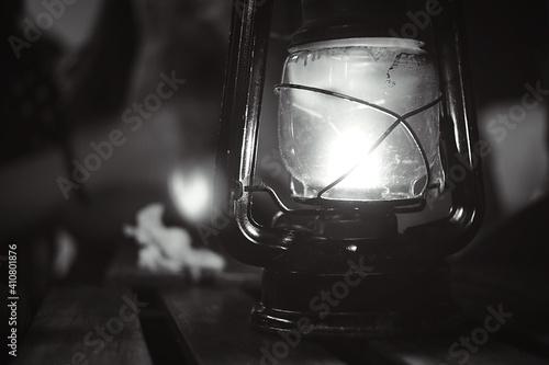 Fototapeta Close-up Of Illuminated Lantern At Night obraz