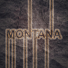 Image Relative To USA Travel. Montana State Name In Geometry Style Design. Creative Vintage Typography Poster Concept.