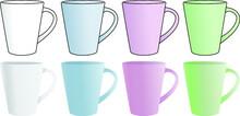 シンプルなマグカップのイラスト