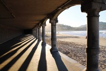 Shadow Of Colonnade On Footpath