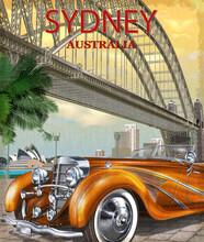 Vintage Sydney, Australia Poster.
