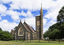 Historic Anglican Christ Church (built 1871) In Birregurra, Victoria, Australia.