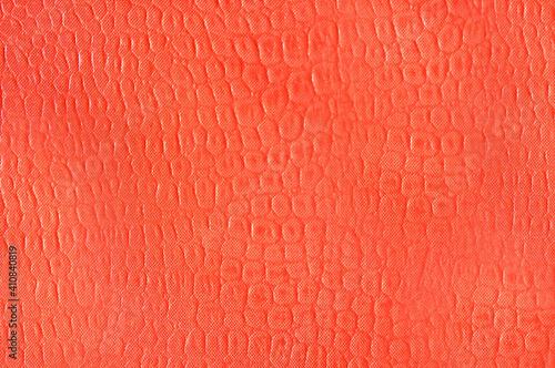 Photographie Artificial leather imitation snakeskin orange color