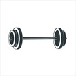 Barbell icon isolated on white background. Barbell icon simple sign. Barbell icon trendy and modern symbol for graphic and web design. Barbell icon flat vector illustration for logo, web