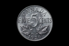 Canadian 5 Cents 1924