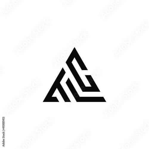 Obraz initial TLC Letter Logo Design Triangle Monogram Icon Vector Template - fototapety do salonu
