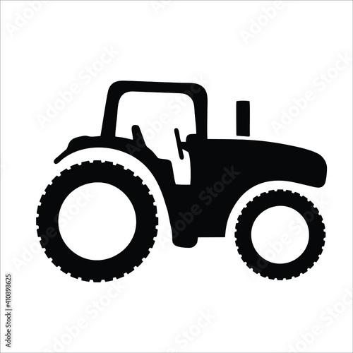 Fototapeta tractor icon isolated on white background from vehicle