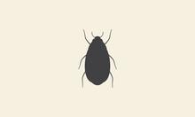 Cockroach Silhouette Simple Logo Vector Icon Symbol Graphic Design Illustration
