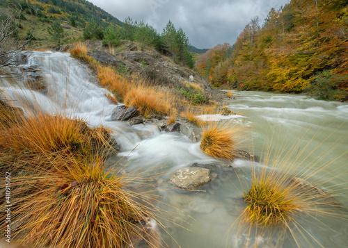 Fotografie, Obraz Ravine of Petraficha, Zuriza, western valleys, Pyrenean mountain range, province