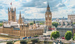 Houses of Parliament and Big Ben, Westminster Palace, high dynamic range, London