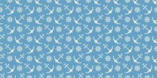 Nautical Seamless Pattern With Ship Wheels And Anchors