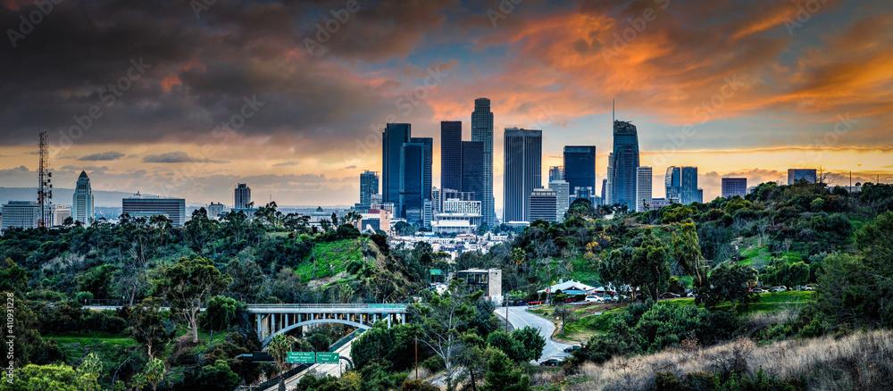 Fototapeta Los Angeles skyline
