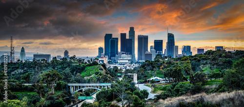 Los Angeles skyline Fototapet
