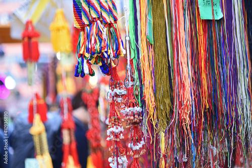 Fotografie, Tablou Decorations, handicrafts at Wanchai Market, Hong Kong, prior to Chinese Lunar Ne