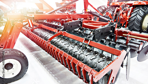Photo Harrow mulcher for wheeled tractors of agricultural