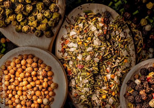 Fototapeta natural spices shown as still life obraz