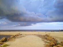 Seascape With Storm Clouds In The Sky