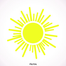 Sun Icon,  Eps,  Jpg,  Picture,  Flat,  App, Web, Art, Object, Flat, Tock Vector