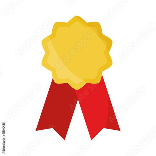 Obraz na plátně rosette ribbon award quality icon flat design