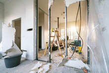 Rebuilding An Old Real Estate Apartment, Prepared And Ready For Renovate