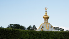 Peterhof Palace Against Clear Sky In City