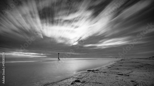 Canvas Print Scenic View Of Beach Against Sky