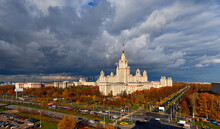 Autumn Stormy Clouds Over The Campus Of Moscow University