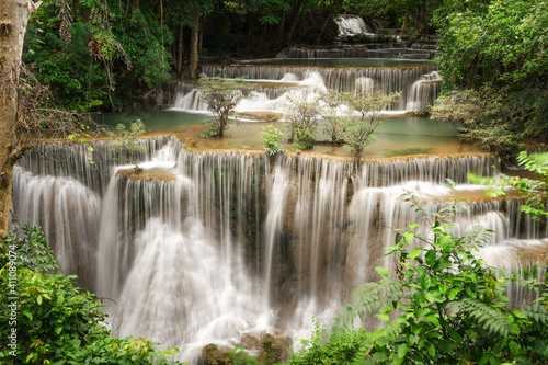 Fototapety, obrazy: Scenic View Of Waterfall In Forest