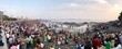 Leinwandbild Motiv High Angle View Of Crowd At Beach
