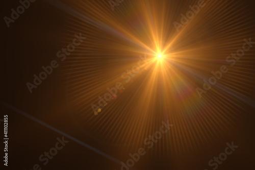 Fotografija Beautiful optical lens flare effect Golden sun light