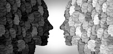 Divided Social Groups And Culture War Between Conservative And Liberal Political Clash Of Ideas Or Community Psychology