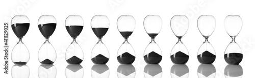 Obraz Set of hourglass on white background - fototapety do salonu